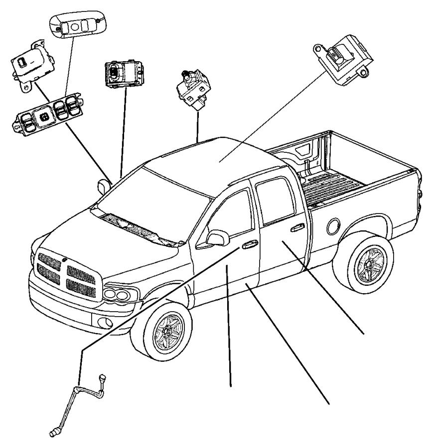 2002 Dodge Ram 1500 Bezel. Power window/door lock swit