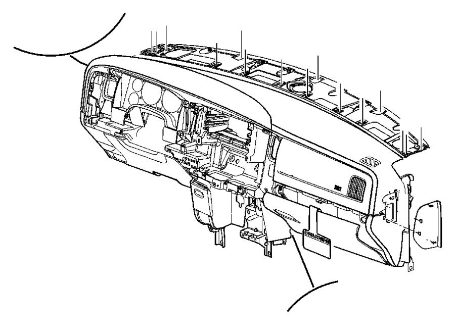 2002 Dodge Ram 1500 End cap. Instrument panel. Left. [dv