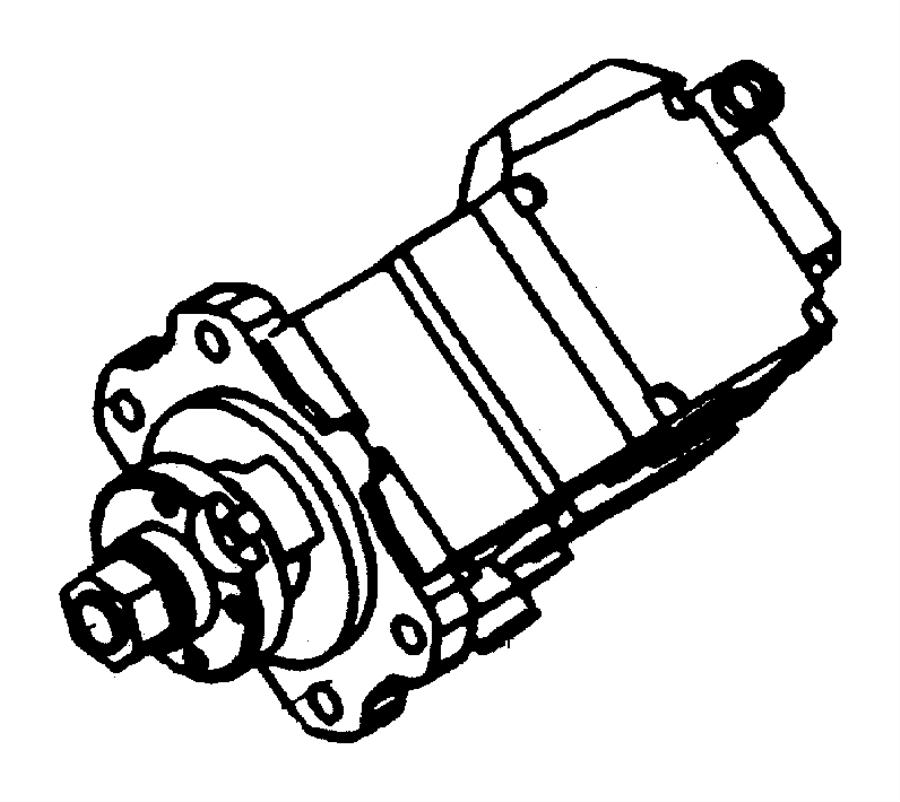 2000 Chrysler Sebring Pump. Fuel injection. Emissions