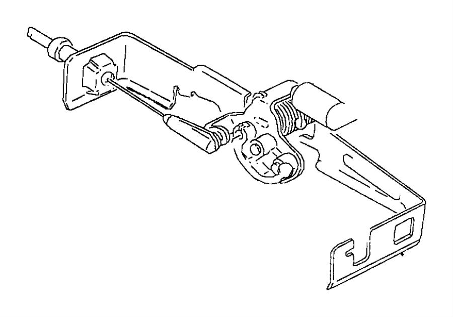 1998 Dodge Ram 1500 Cable. Throttle valve. Engine