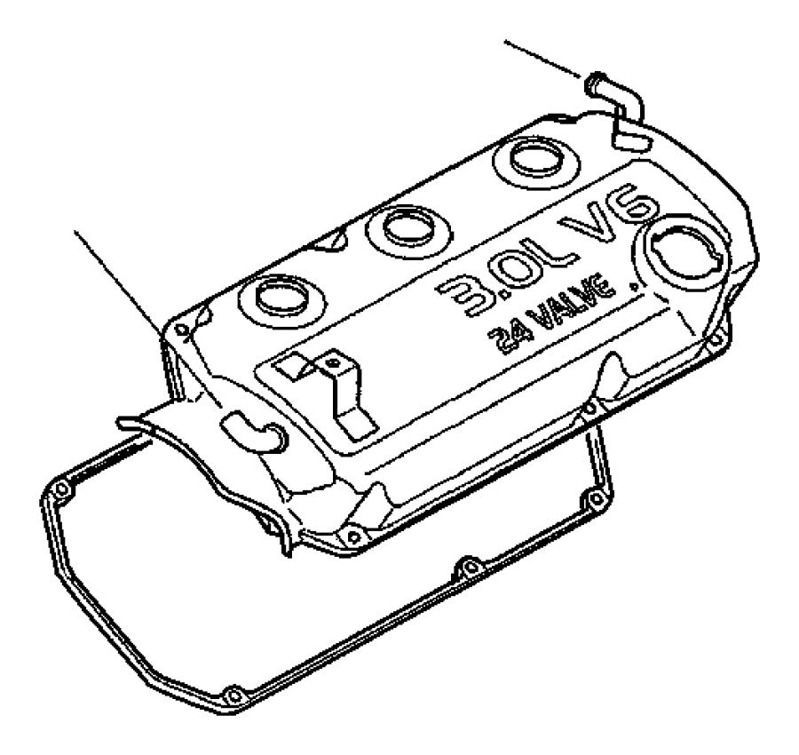 1998 Chrysler Sebring Gasket. Valve cover. Cylinder head