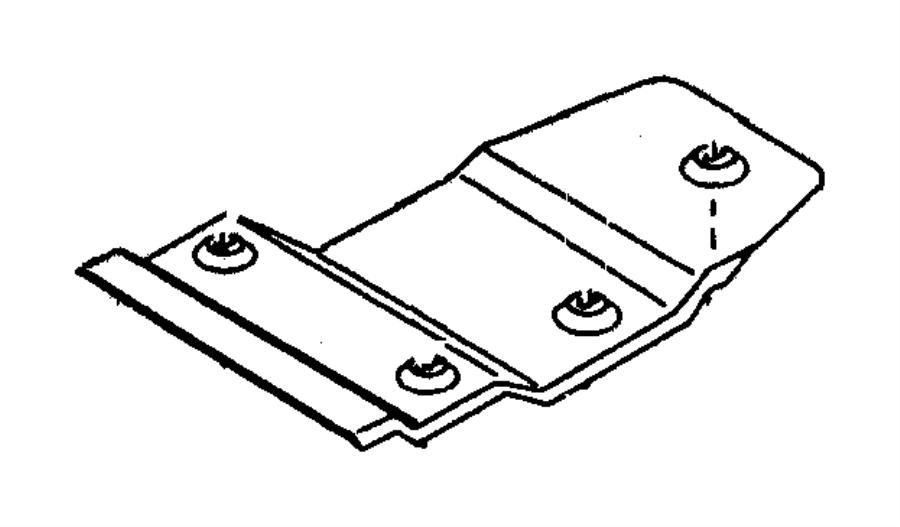 1998 Dodge Dakota Shield. Heat. Floor pan front