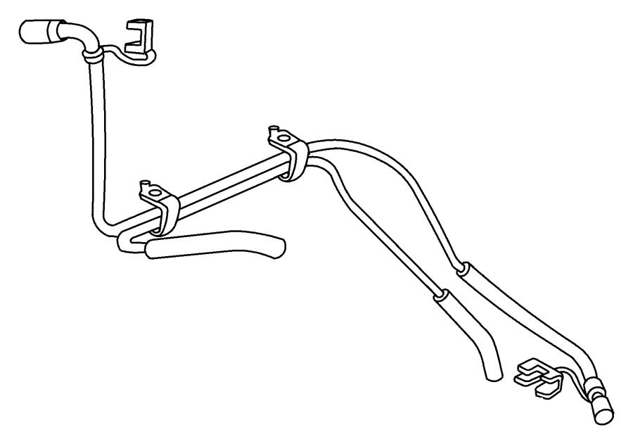 2005 Dodge Ram 1500 Clip. Fuel line. Fuel tube secondary