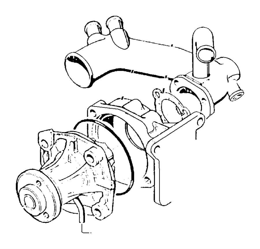 1998 Jeep Cherokee Pump. Water. [up to 2-27-01]. Engine