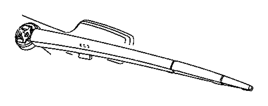 2009 Jeep Grand Cherokee Blade. Rear window wiper, rear