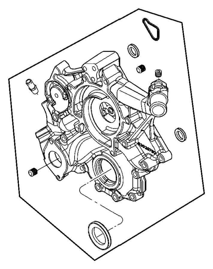 2008 Dodge Avenger Cover. Chain case, timing belt. Egk