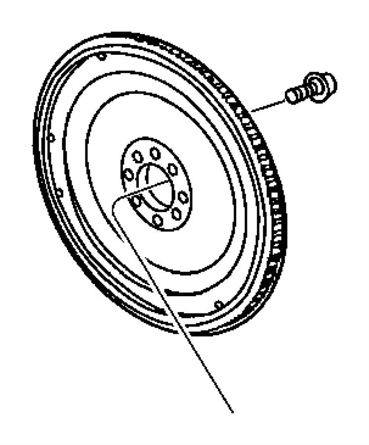 Dodge Ram 1500 Bolt. Flexplate. Mounting. Flex plate to