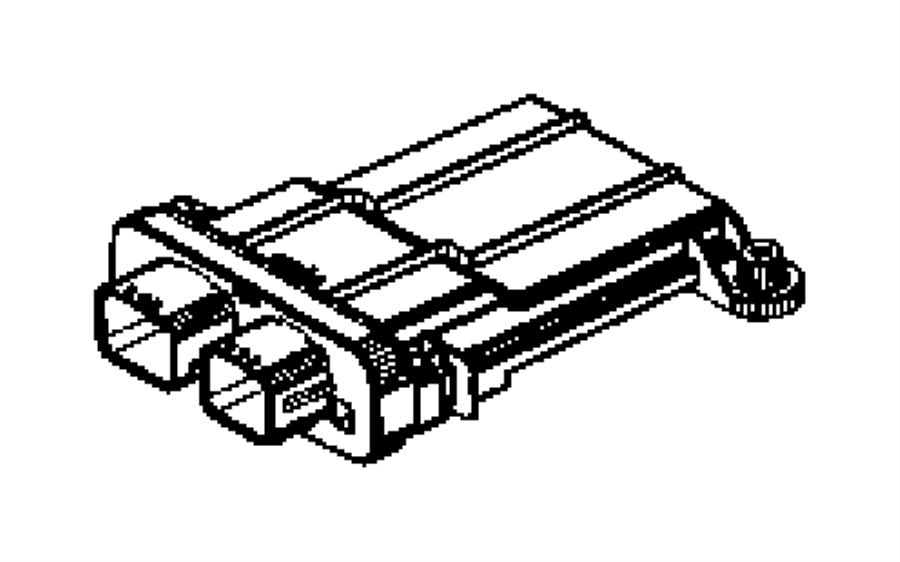 2006 Chrysler 300 Module. Occupant classification. Trim