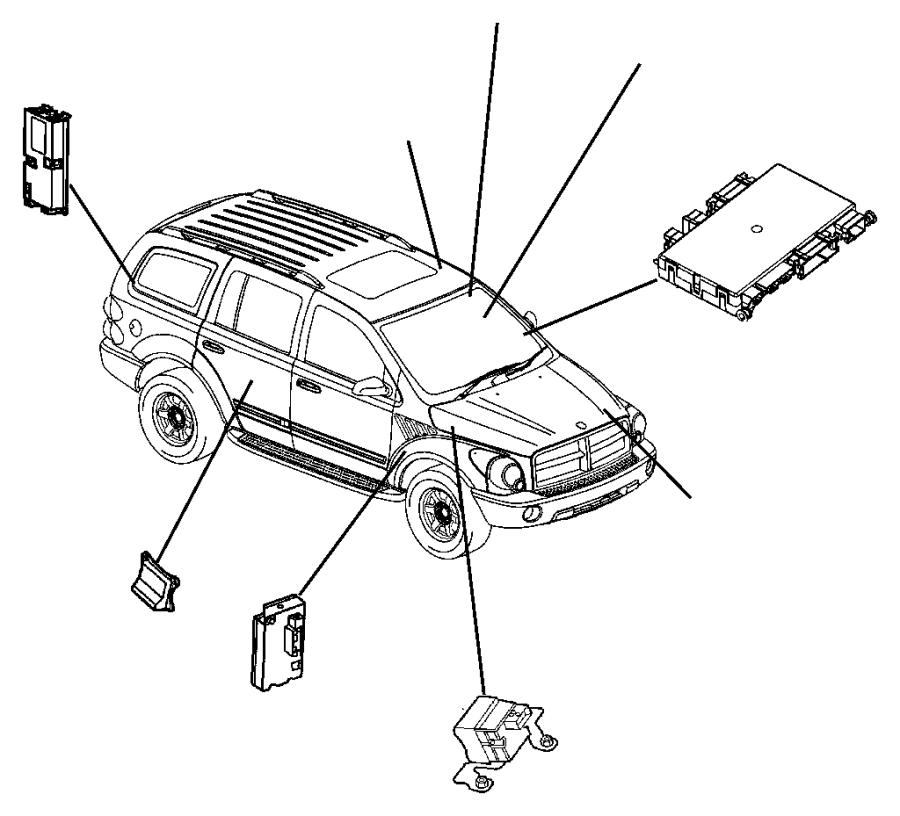 2004 Dodge Durango Module. Seat memory. Mounted in the