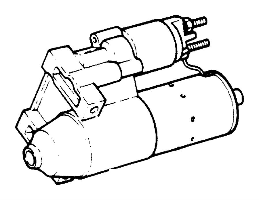 1994 Jeep Grand Cherokee Starter. Engine. Remanufactured