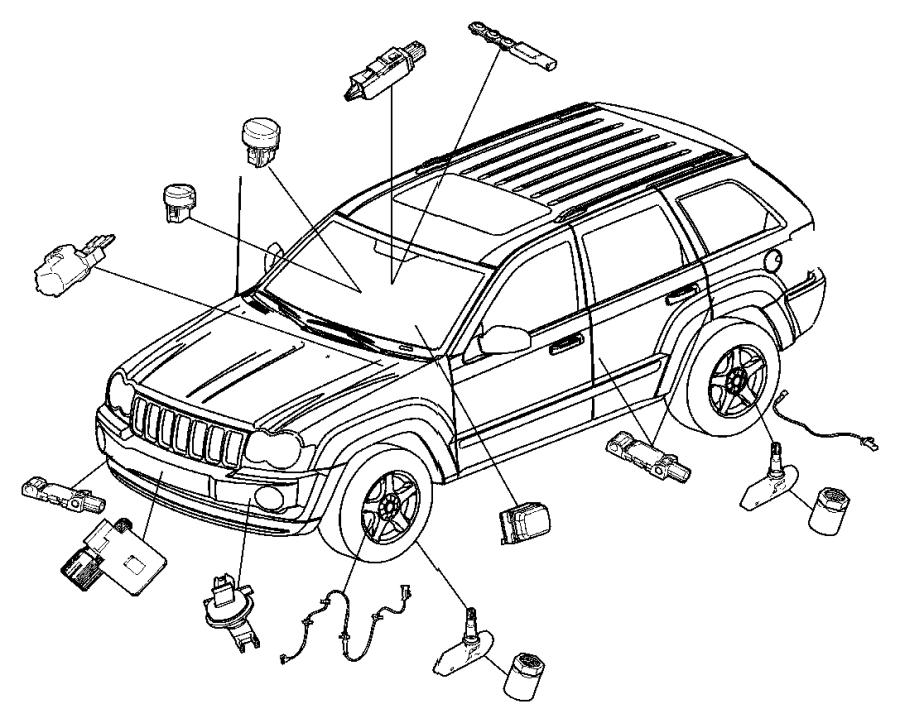 2012 Dodge Challenger Sensor. Washer fluid level
