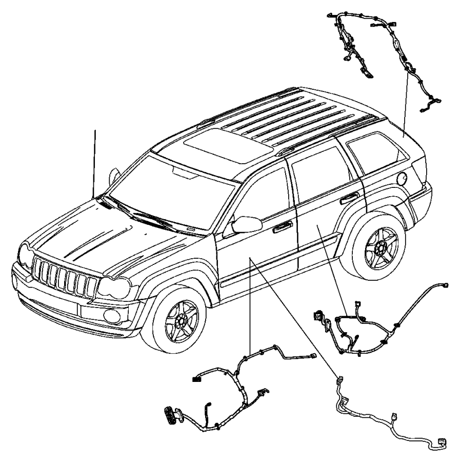 Jeep Grand Cherokee Wiring. Rear door. Right or left