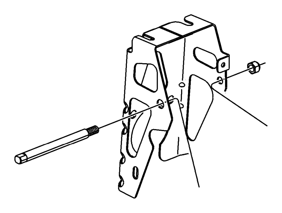 Chrysler Sebring Bracket. Used for: clutch and brake pedal