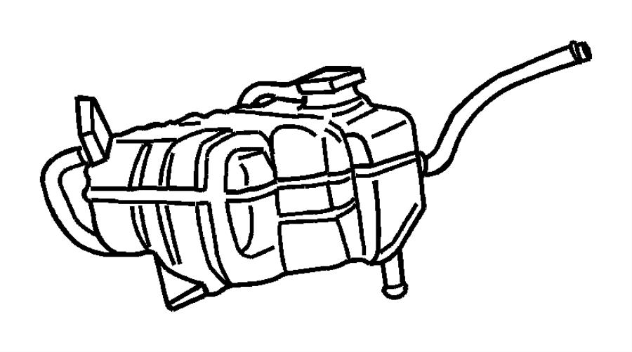 2008 Chrysler Sebring Bottle. Pressurized coolant