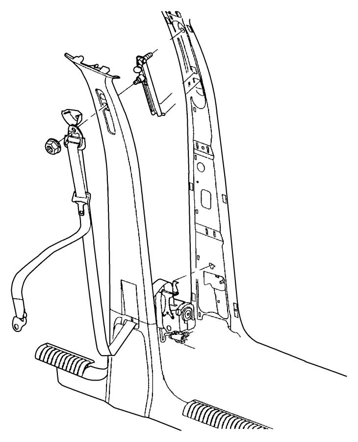 Jeep Liberty Seat belt. Front outer. Left. [j1], [j3
