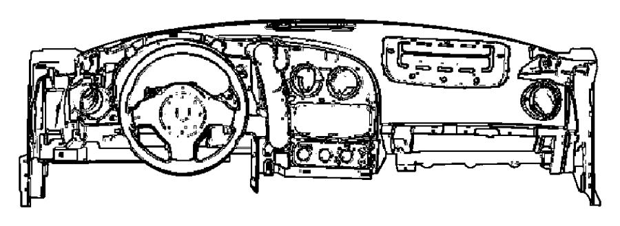Dodge Viper Panel. Instrument. Right. [xr]. Trim: [all