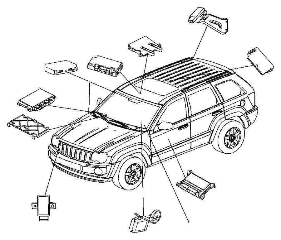 2006 Jeep Commander Receiver. Control module. Monitoring
