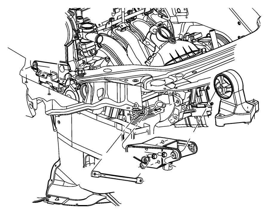 2005 Chrysler Sebring Module. Engine support