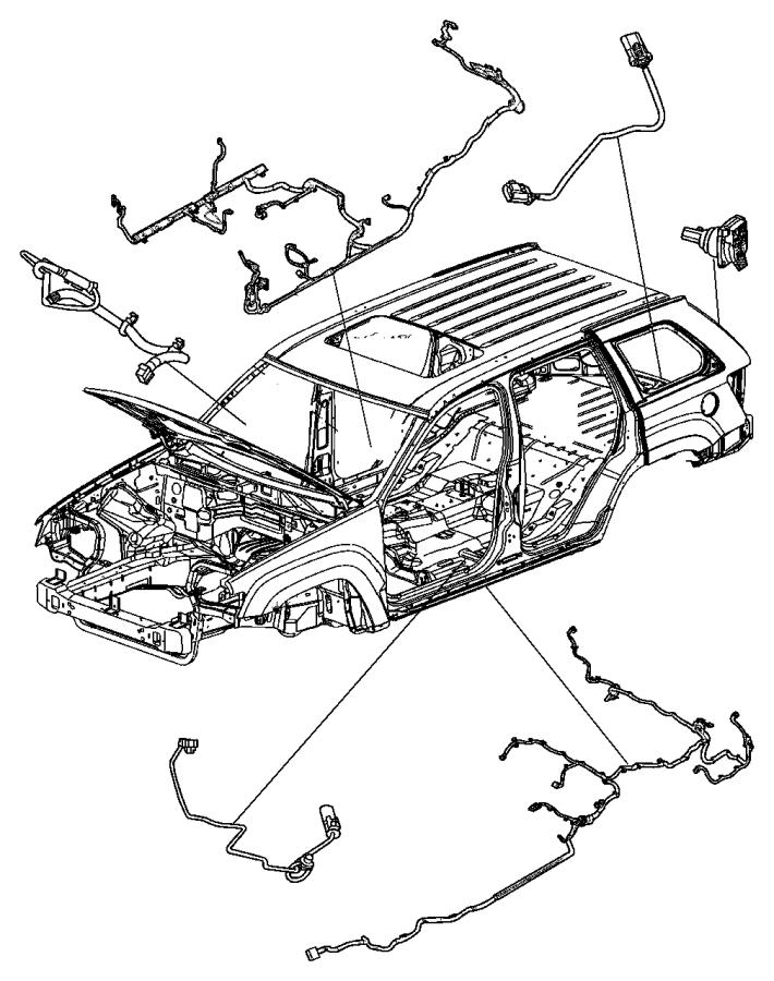 2010 Jeep Commander Wiring. Fuel module. Tank, skid