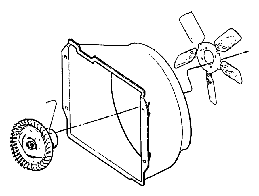 2004 Jeep Wrangler Fan module. Radiator cooling. With