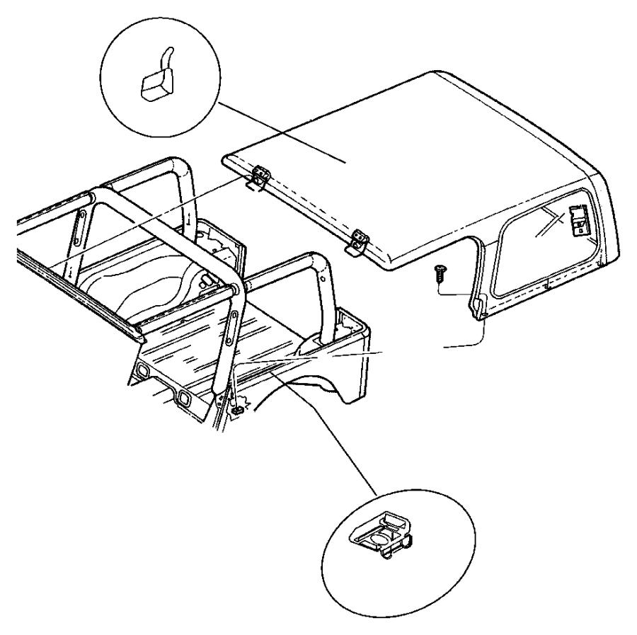 2003 Jeep Wrangler Screw. B pillar, bodyside, top to b
