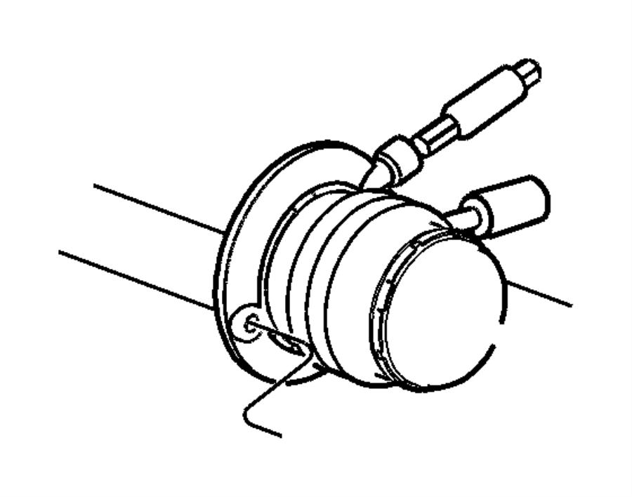 2005 Dodge Viper Cylinder. Clutch slave. Concentric