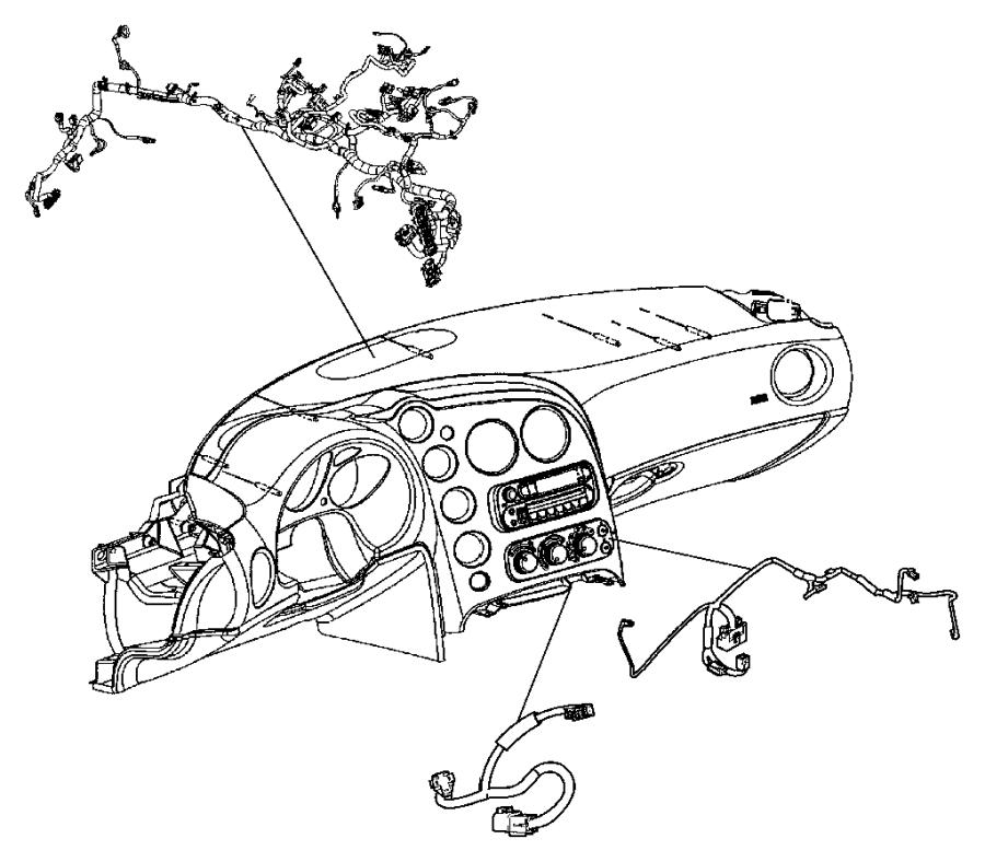 2005 Dodge Viper Wiring. Instrument panel. Trim: [all trim