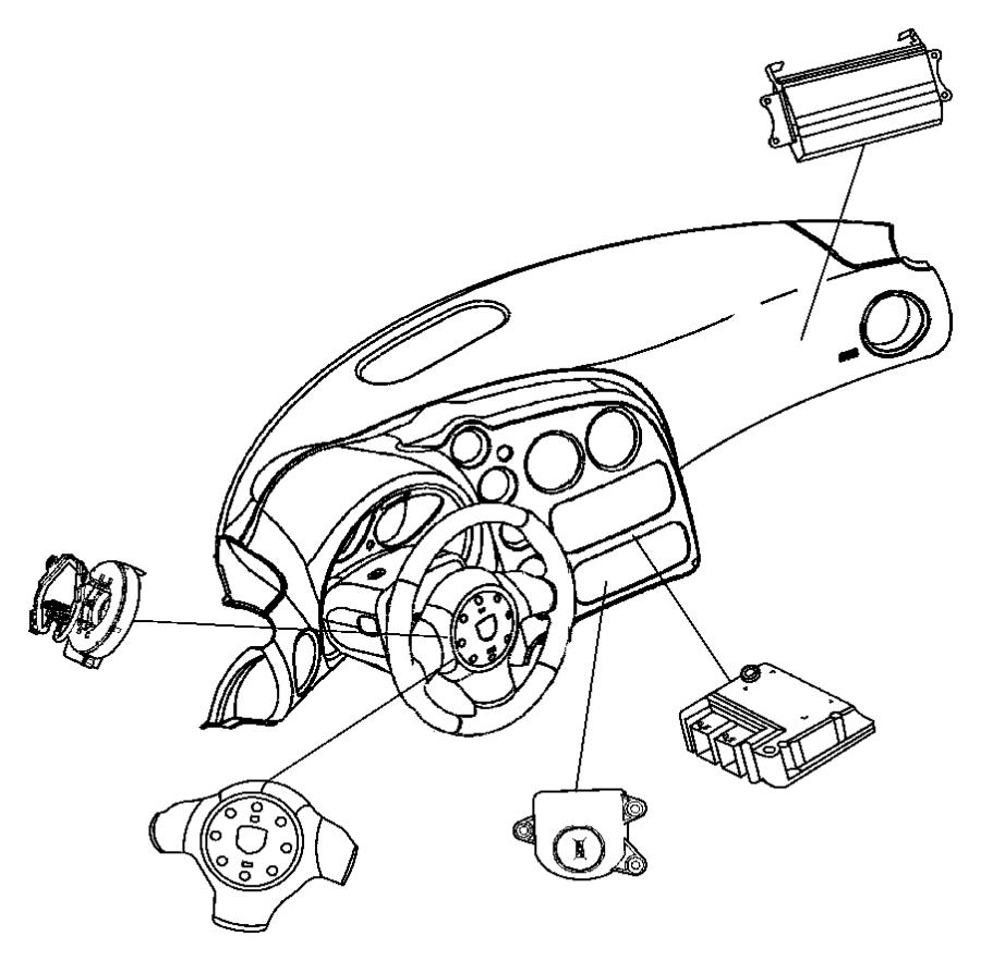 2006 Dodge Viper Switch. Passenger airbag disarm. Trim