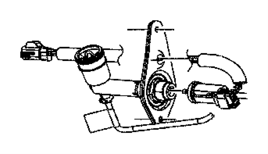2007 Jeep Liberty Hydraulic control. Clutch actuator