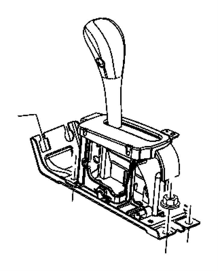 2005 Jeep Liberty Housing. Shifter. Gearshift, controls