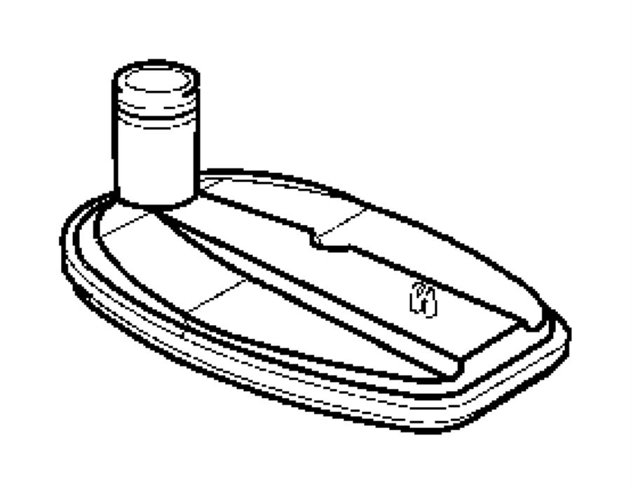 2010 Dodge Challenger Filter. Transmission oil. Pan