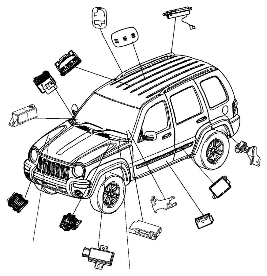 2006 Jeep Liberty Module. Overhead console. Trim: [all