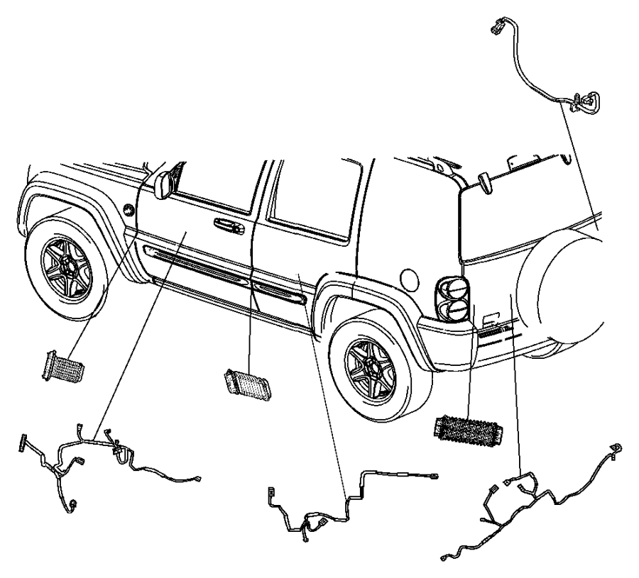 2004 Jeep Liberty Wiring. Jumper, power door lock. Handle