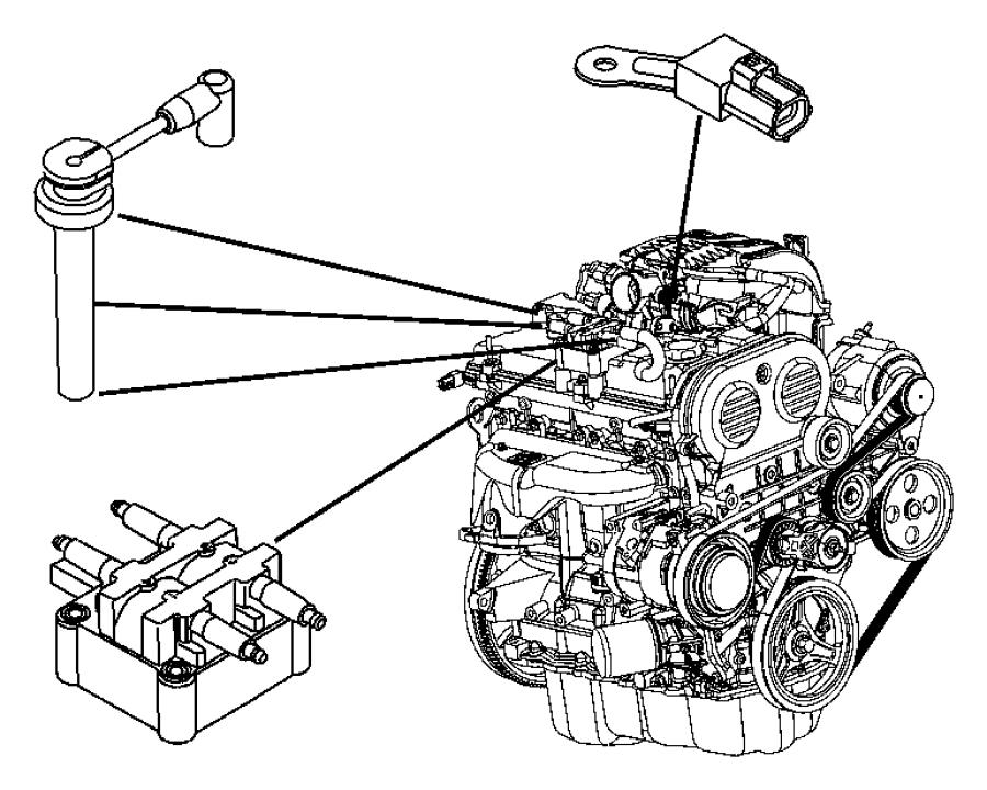 2011 Dodge NITRO Sparkplug. Optional. Plugs, cables, coils