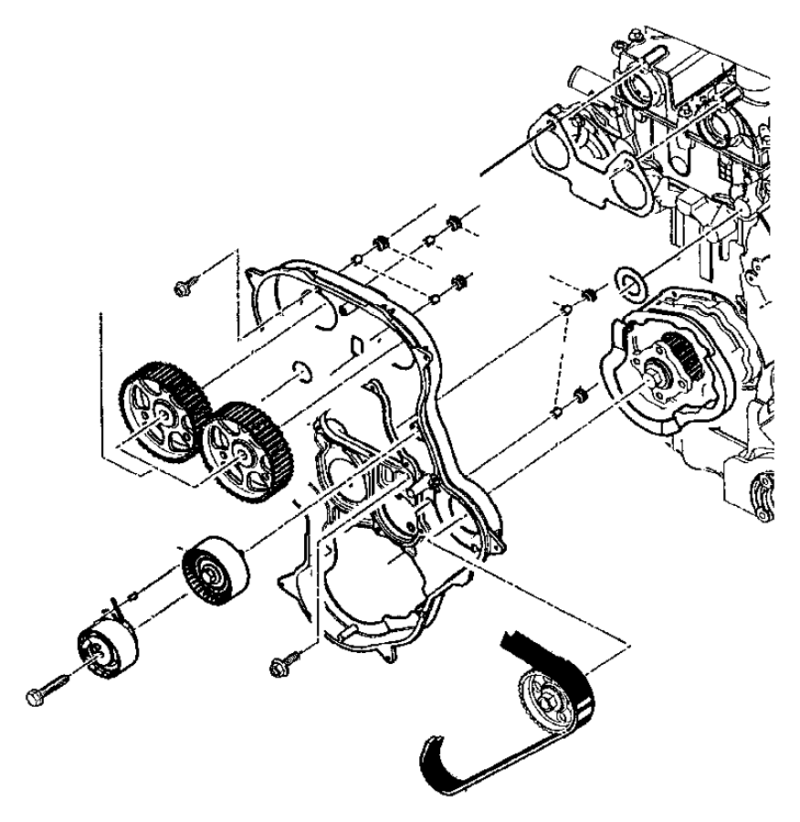 2013 Jeep Wrangler Cover. Timing case. Diesel, turbo