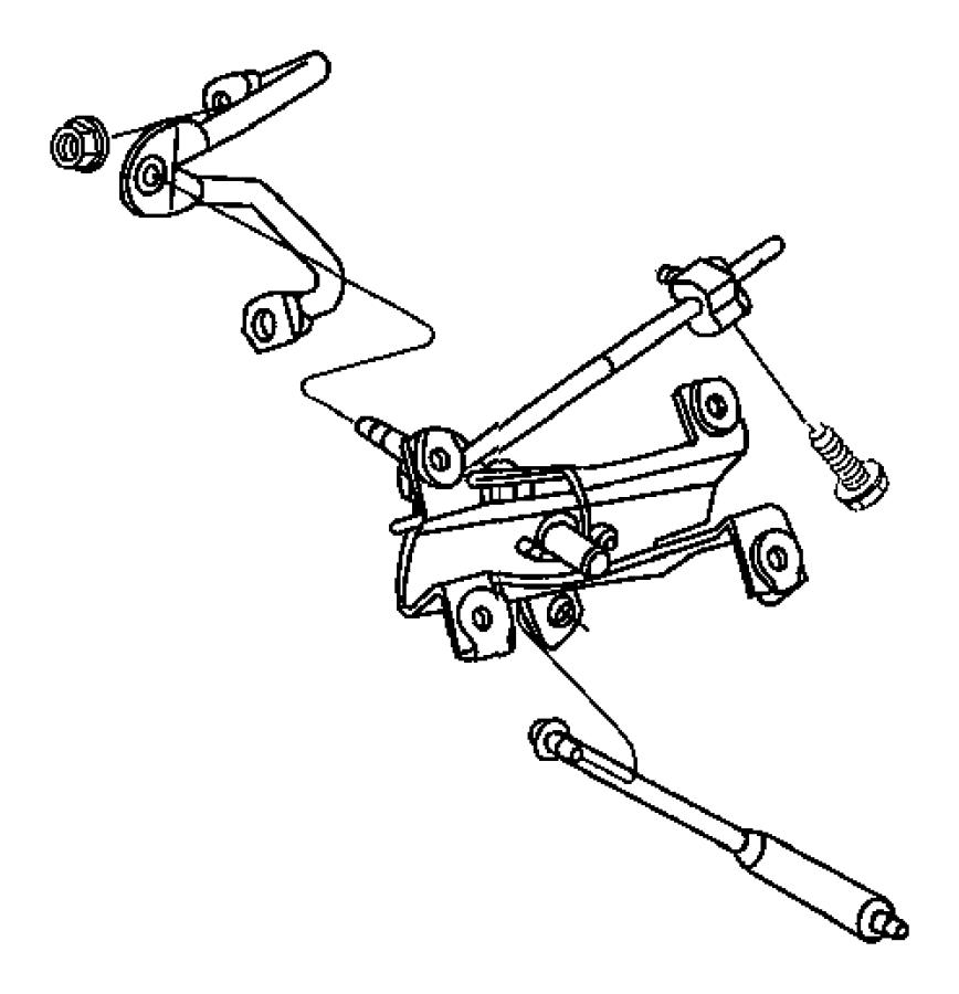 2005 Jeep Wrangler Rod. Gear shift control. Transfer case