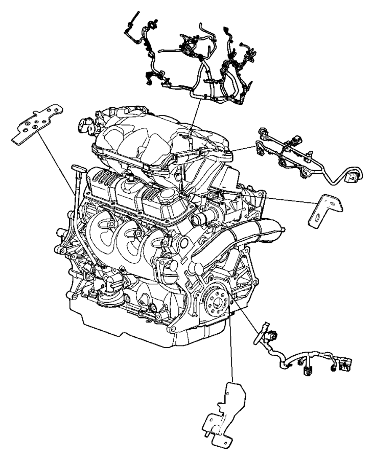 2011 Dodge NITRO Bracket. Engine wiring. After 06/07/04