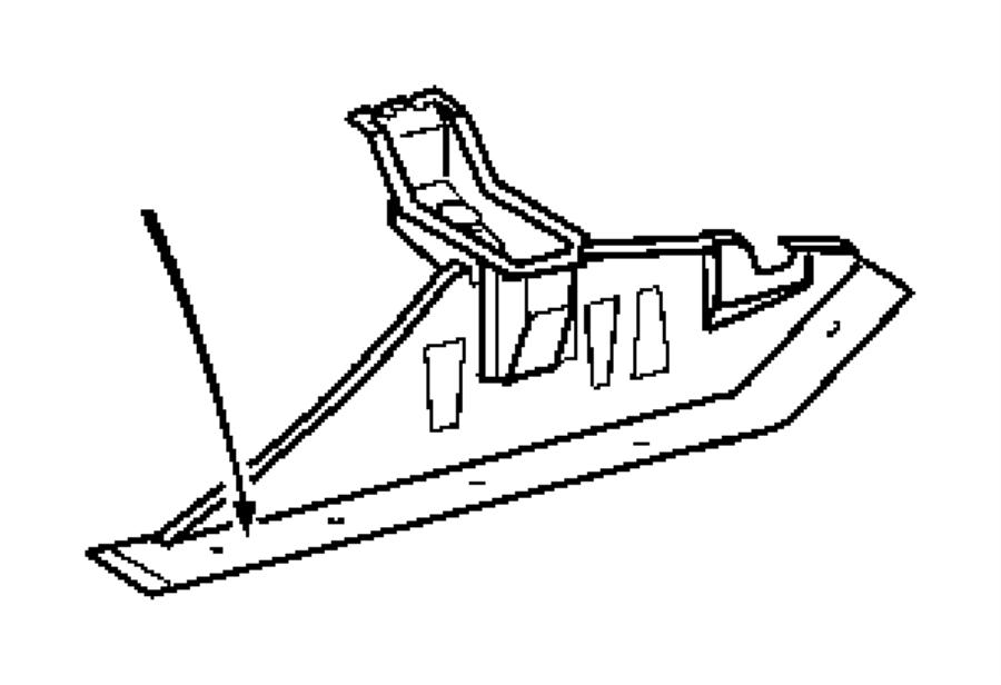 2006 Dodge Sprinter 2500 Support. Under body hold down