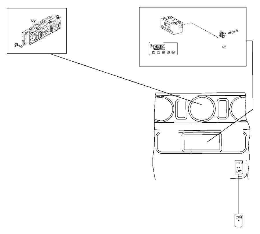2003 Dodge SPRINTER 3500 Switch. Security alarm