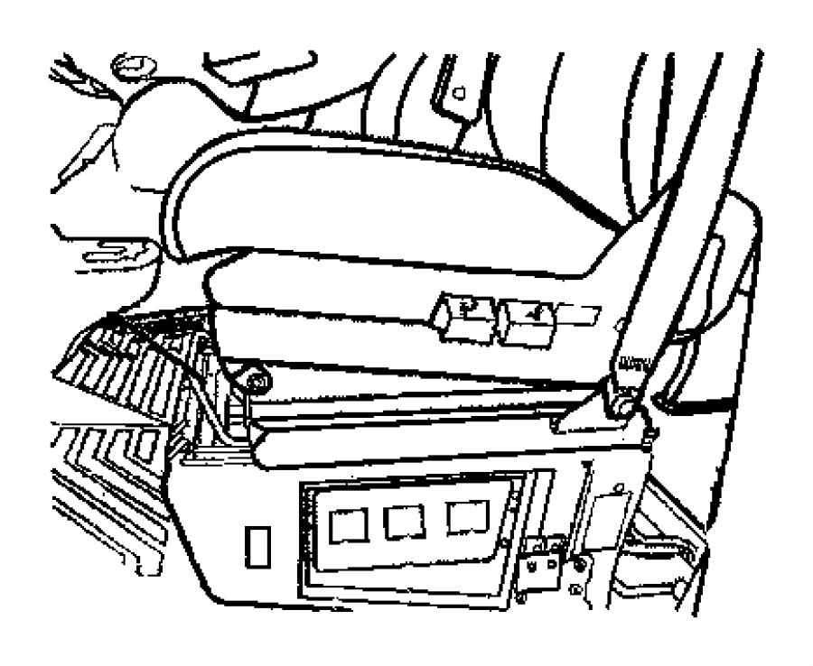2003 Dodge Sprinter 2500 Label. Fuse block. Fuse box