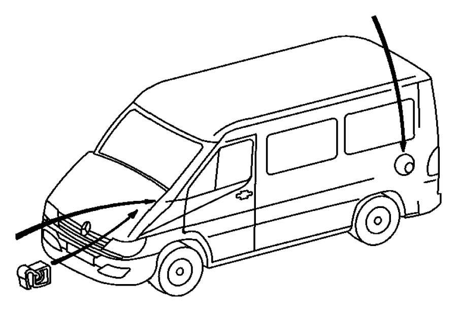 2005 Dodge Sprinter 2500 Retainer. Wiring harness