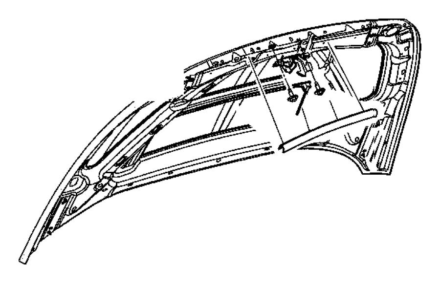 2006 Dodge Ram 1500 Striker. Hood latch. Related