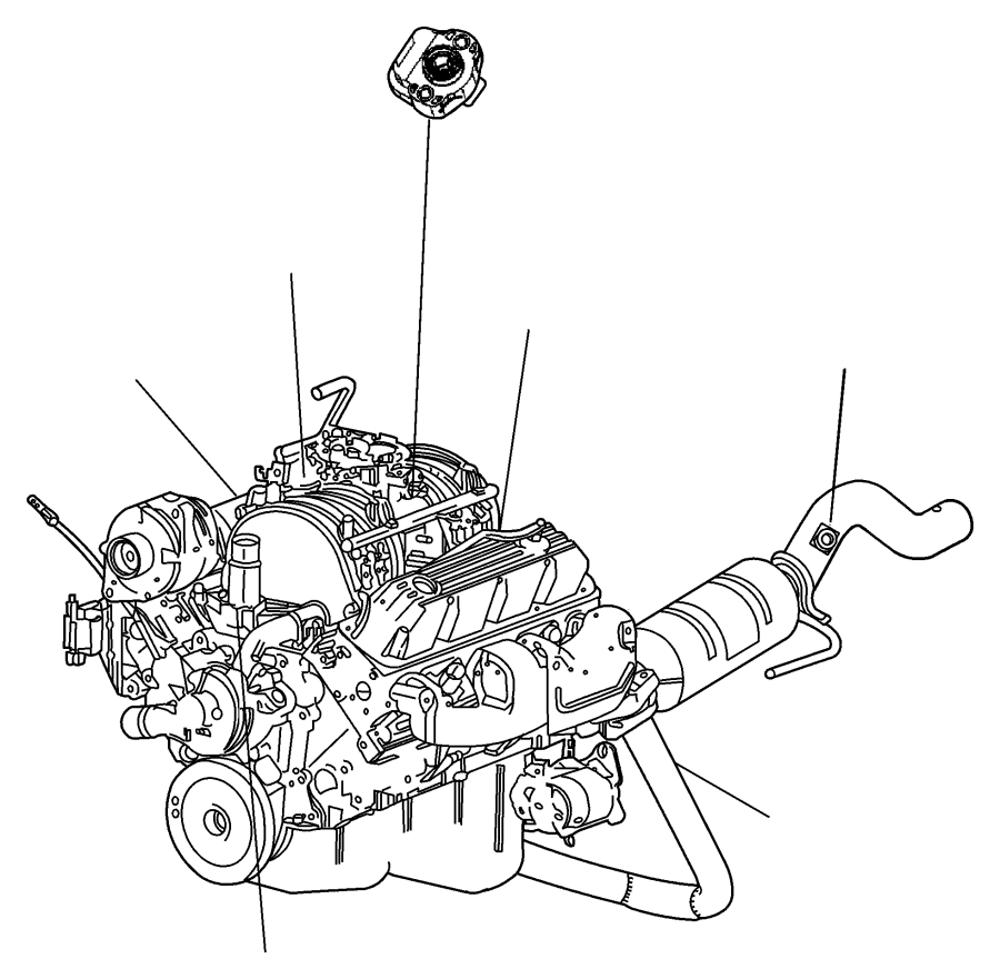 1999 Dodge Durango Sensor. Crankshaft position. Automatic