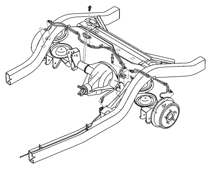 1997 Jeep Wrangler Tube. Brake. Right. [dana m35/194mm