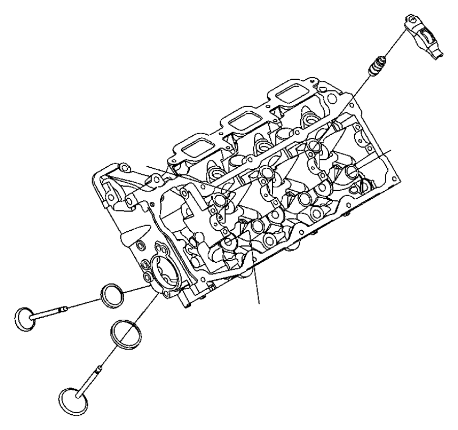 Dodge Ram 1500 Head. Cylinder. Bare, partial. Engine
