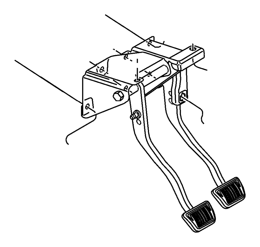 2001 Chrysler Sebring Pad. Pedal. Brake, left, mounting
