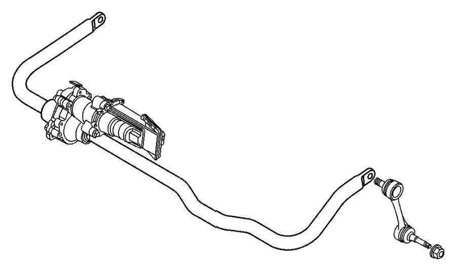 2012 Jeep Wrangler Bolt. Stabilizer bar. Front