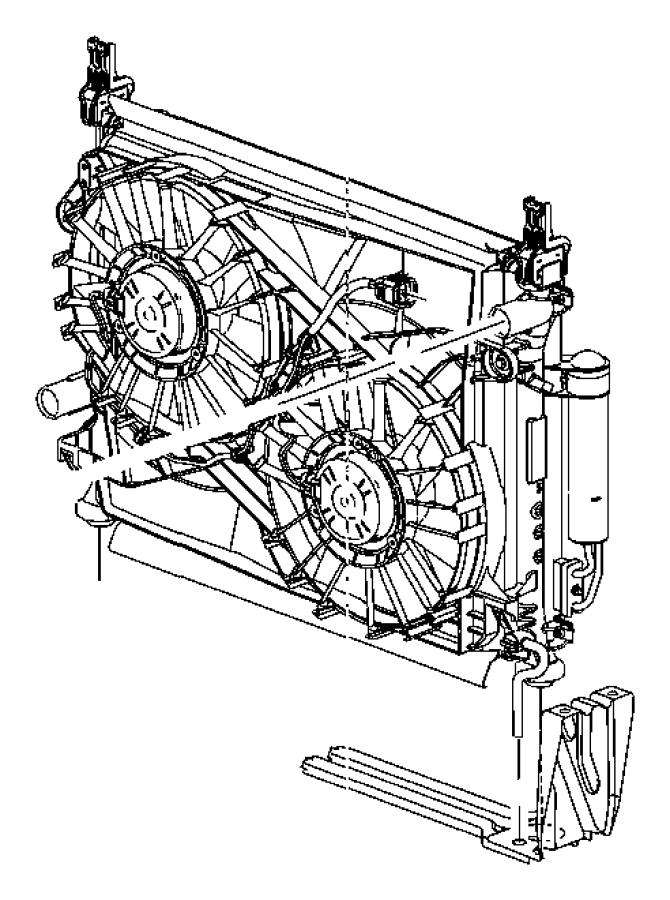 2006 Dodge Magnum Radiator. Engine cooling. [maximum duty