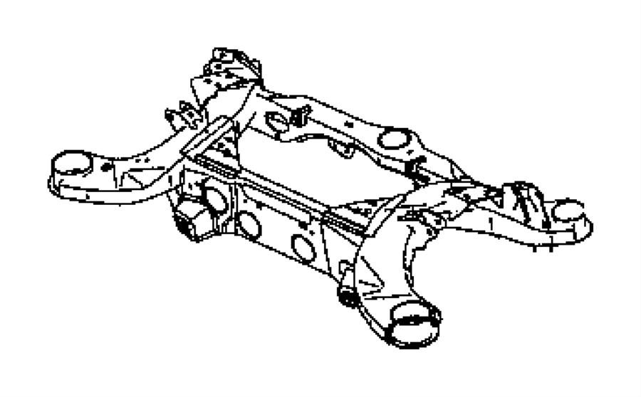 Dodge Magnum Subframe Rear Axle Suspension Wheel
