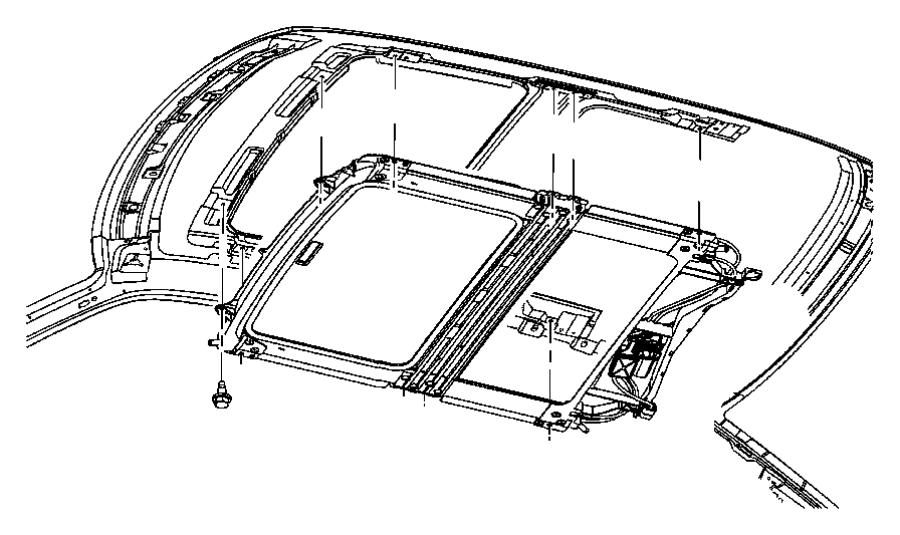 2009 Chrysler 300 Seal. Sunroof glass. Trim: [all trim